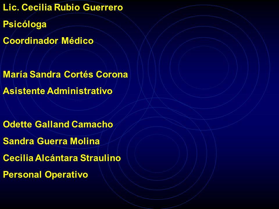 Dra. Claudia Quiriarte Cisneros Pediatra Neonatóloga Coordinador Médico Dr. Ubaldo de la Cruz Velázquez Médico General Coordinador Médico Lic. María d