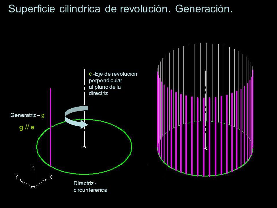 Superficie cilíndrica oblicua.Generación.