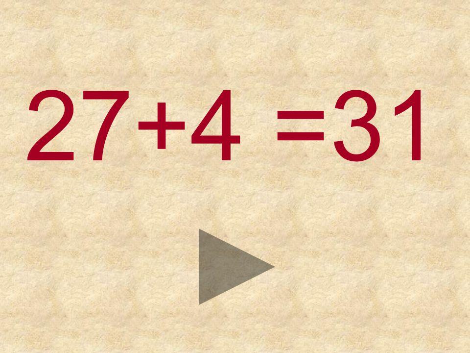 27+4 = 303231