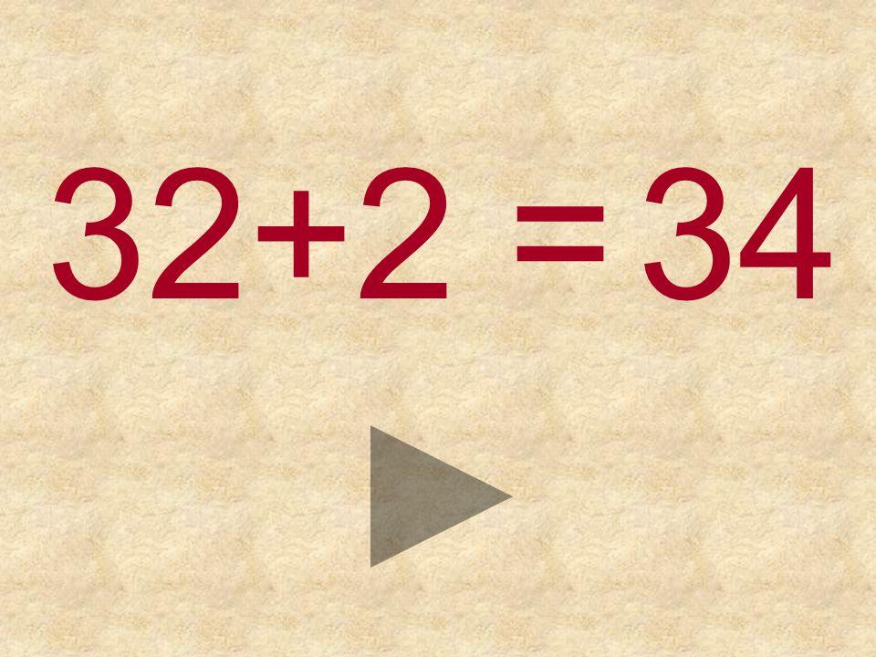 32+2 = 353634