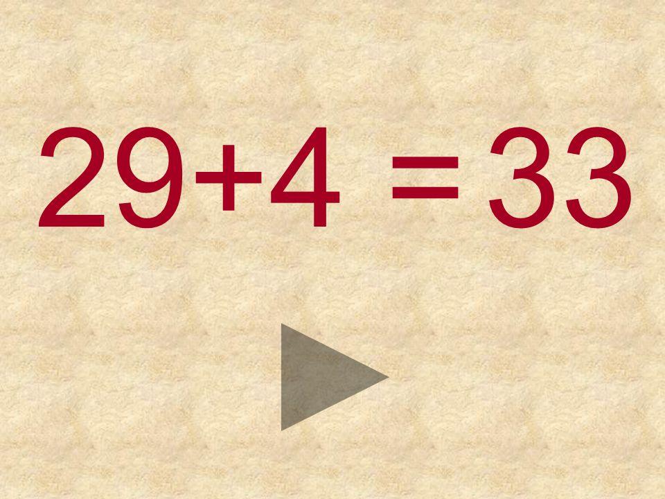 29+4 = 333432