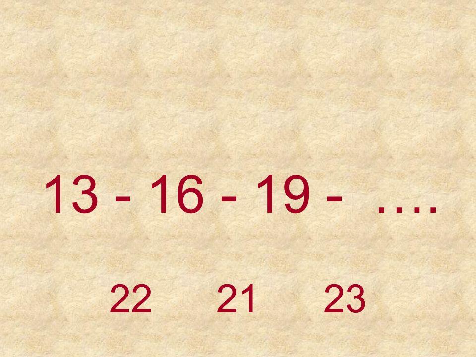 12 - 14 - 16 - 18