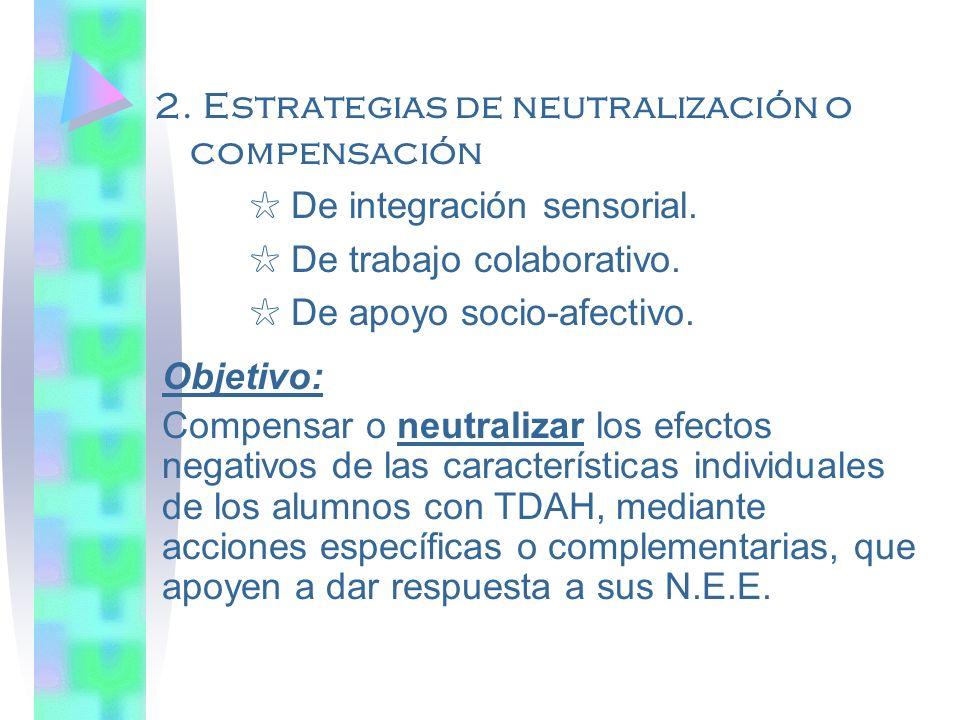Estrategias educativas 1.Estrategias de adaptación de las formas y métodos de enseñanza.