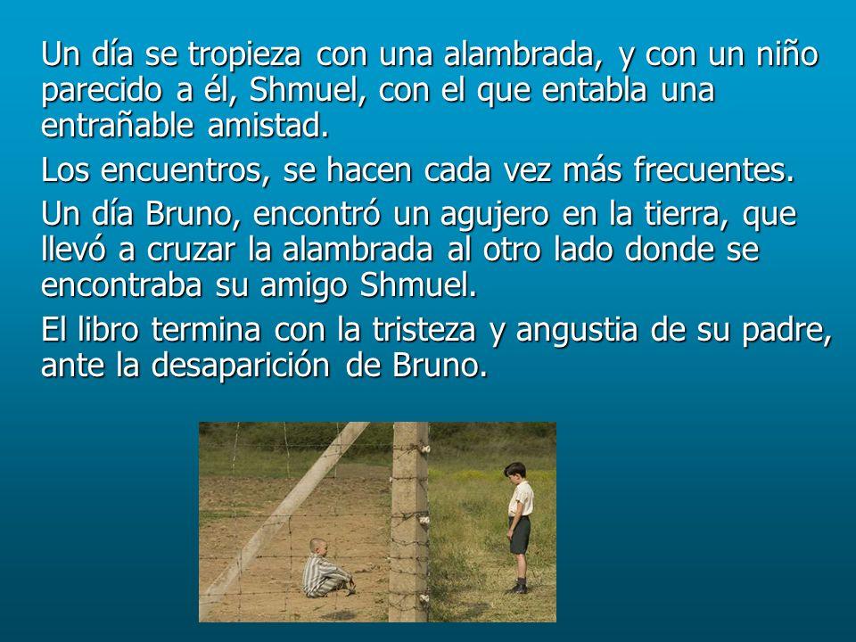 Fragmentos Capítulo 17: Capítulo 17: …Madre padecía más descontenta con la vida en Auchviz y Bruno entendía a que se debía… …Para Bruno la situación había cambiado sobre todo gracias a Shmuel, que se había convertido en una de las personas más importantes para él…