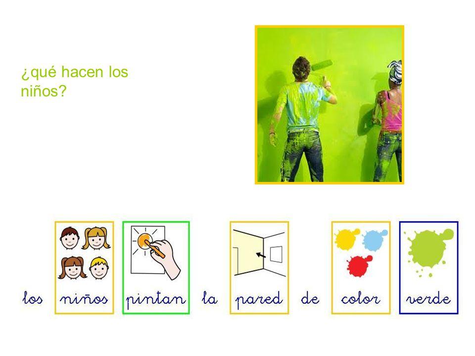 ¿qué pintan los niños?