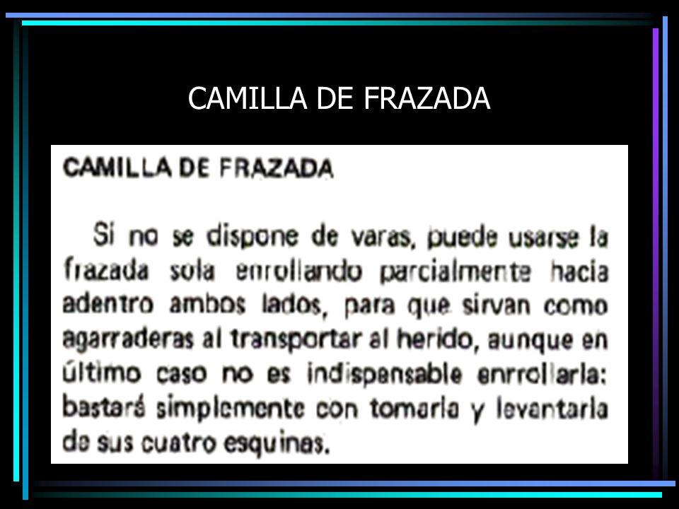 CAMILLA DE FRAZADA
