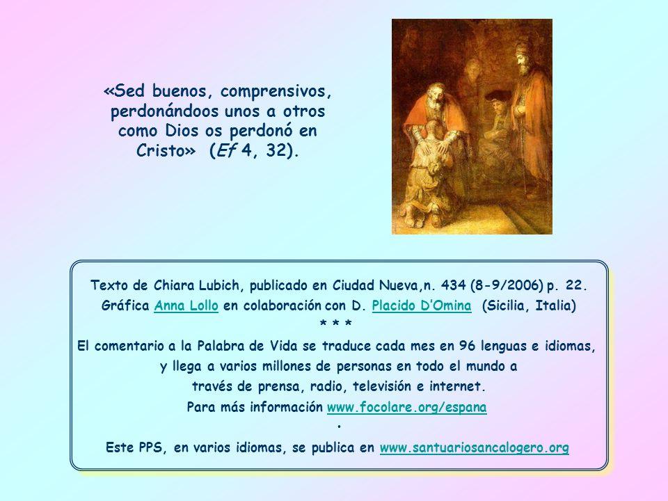 Texto de Chiara Lubich, publicado en Ciudad Nueva,n.