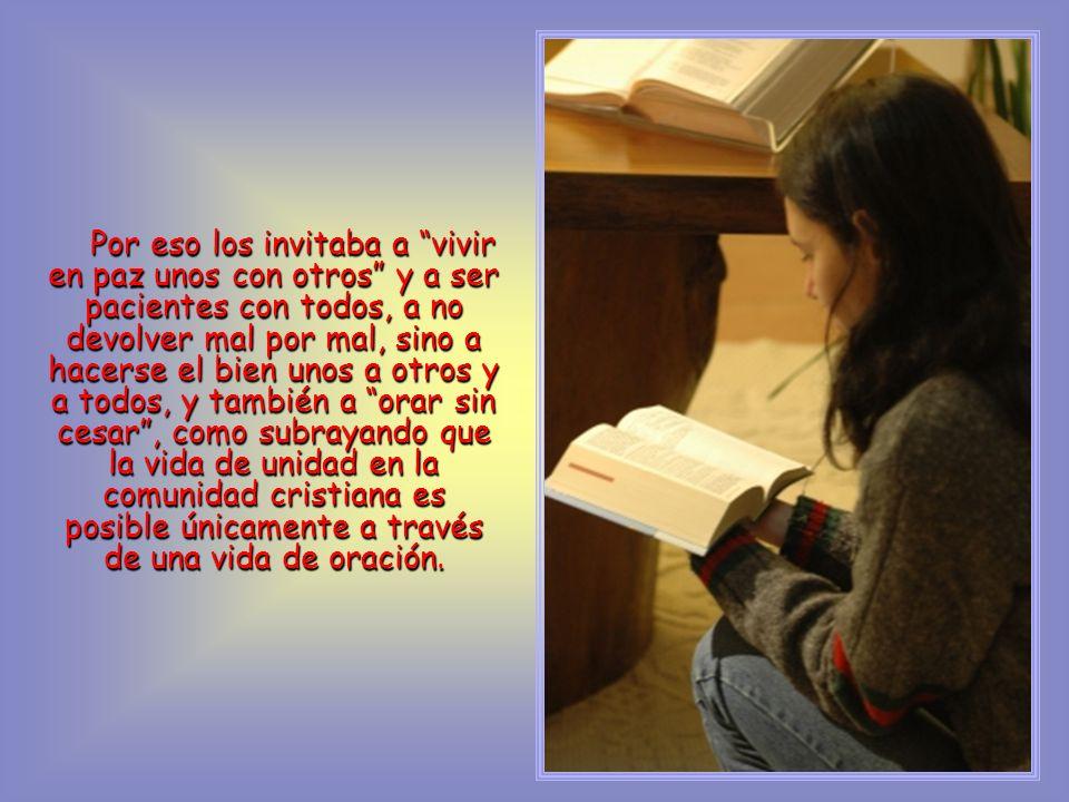 La Palabra elegida este año por un amplio grupo ecuménico de Estados Unidos, ha sido tomada de la primera carta de san Pablo a los cristianos de Tesalónica, en Grecia.