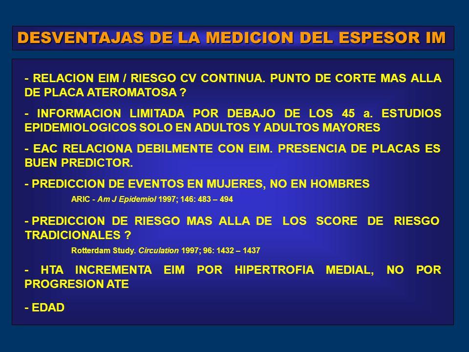 - INFORMACION LIMITADA POR DEBAJO DE LOS 45 a.