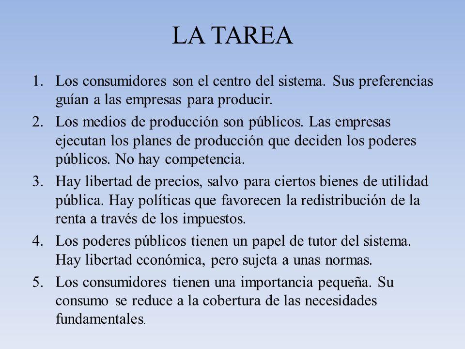 LA TAREA 6.Los medios de producción son privados.