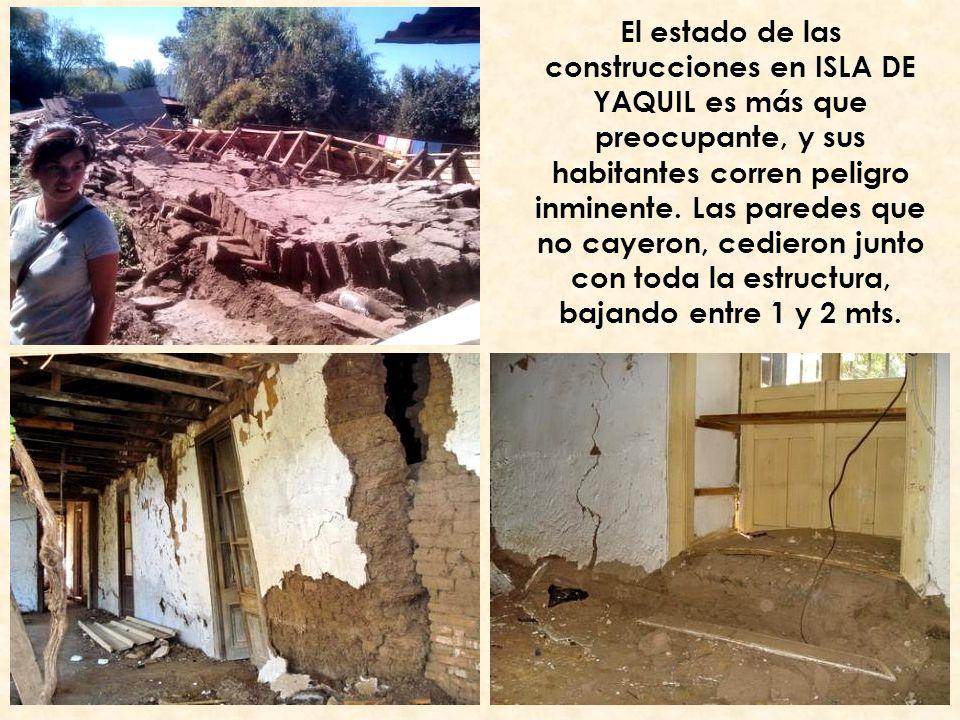 El estado de las construcciones en ISLA DE YAQUIL es más que preocupante, y sus habitantes corren peligro inminente.