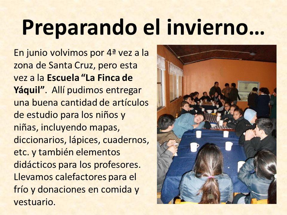 Preparando el invierno… En junio volvimos por 4ª vez a la zona de Santa Cruz, pero esta vez a la Escuela La Finca de Yáquil.