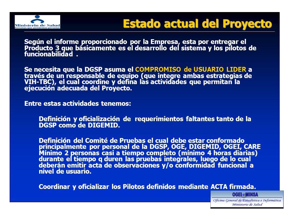Según el informe proporcionado por la Empresa, esta por entregar el Producto 3 que básicamente es el desarrollo del sistema y los pilotos de funcionab