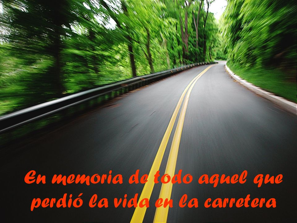 En memoria de todo aquel que perdió la vida en la carretera