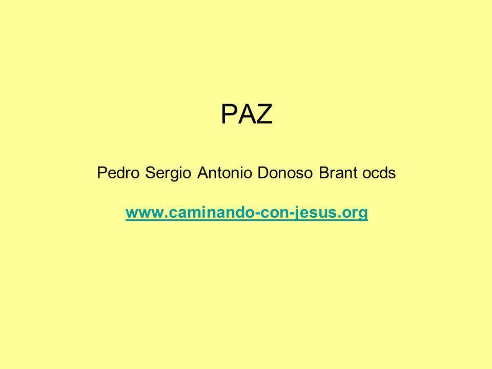 PAZ Pedro Sergio Antonio Donoso Brant ocds www.caminando-con-jesus.org www.caminando-con-jesus.org