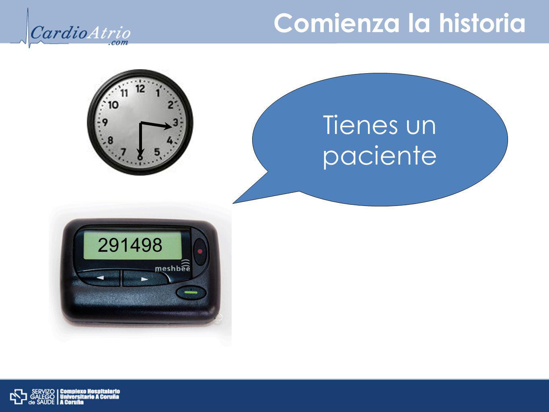 Comienza la historia 291498 Tienes un paciente