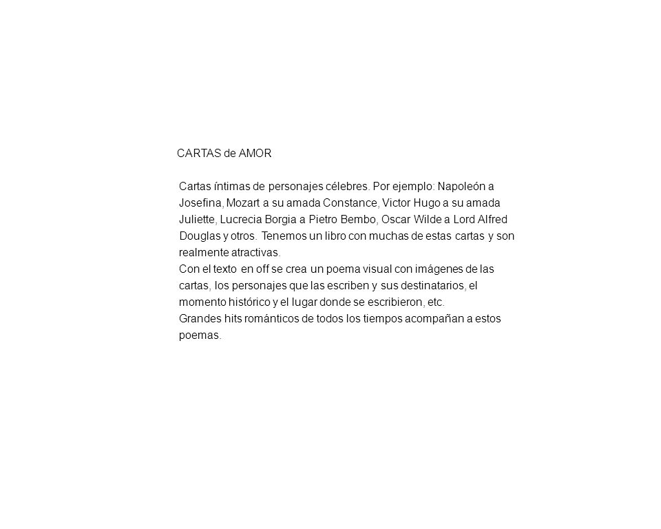 01 / 21 History Fillers / CARTAS de AMOR