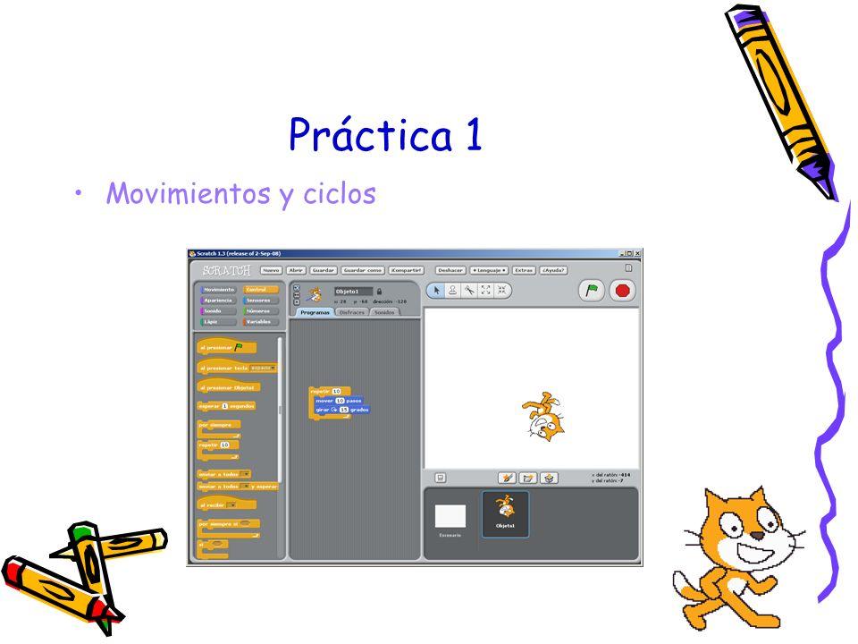 Enseñando a programar con Scratch Enseñar a programar es lo más importante Habilidades a desarrollar –Capacidad de organizar –Capacidad de abstraer –Imaginación –Investigación y descubrimiento