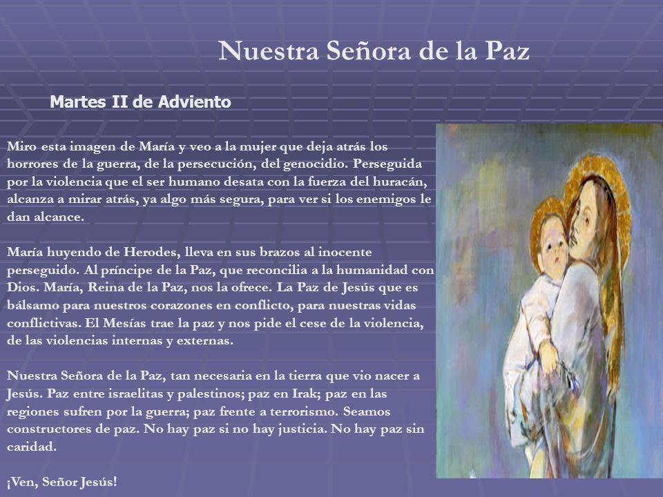 Inmaculada Concepción Lunes I de Adviento. 8 de Diciembre. Junto a la Inmaculada, rodeándola, encuentro los siguientes símbolos: el barco, pues María