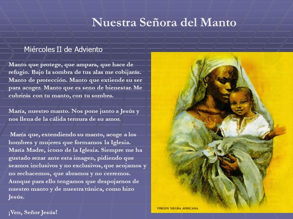 Nuestra Señora de la Paz Martes II de Adviento Miro esta imagen de María y veo a la mujer que deja atrás los horrores de la guerra, de la persecución,