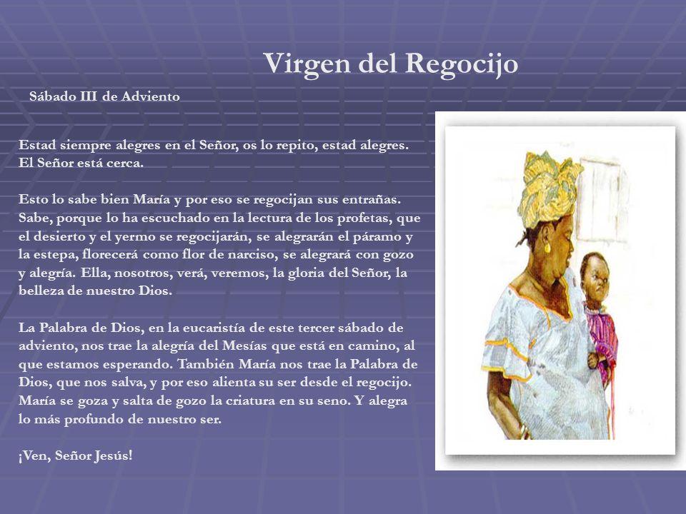 Virgen de la Estrella Viernes III de Adviento En medio de la oscuridad tu eres estrella, María: iluminas, orientas, guías. Luz pequeña que resplandece