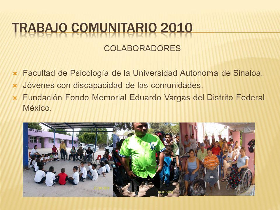 COLABORADORES Facultad de Psicología de la Universidad Autónoma de Sinaloa.