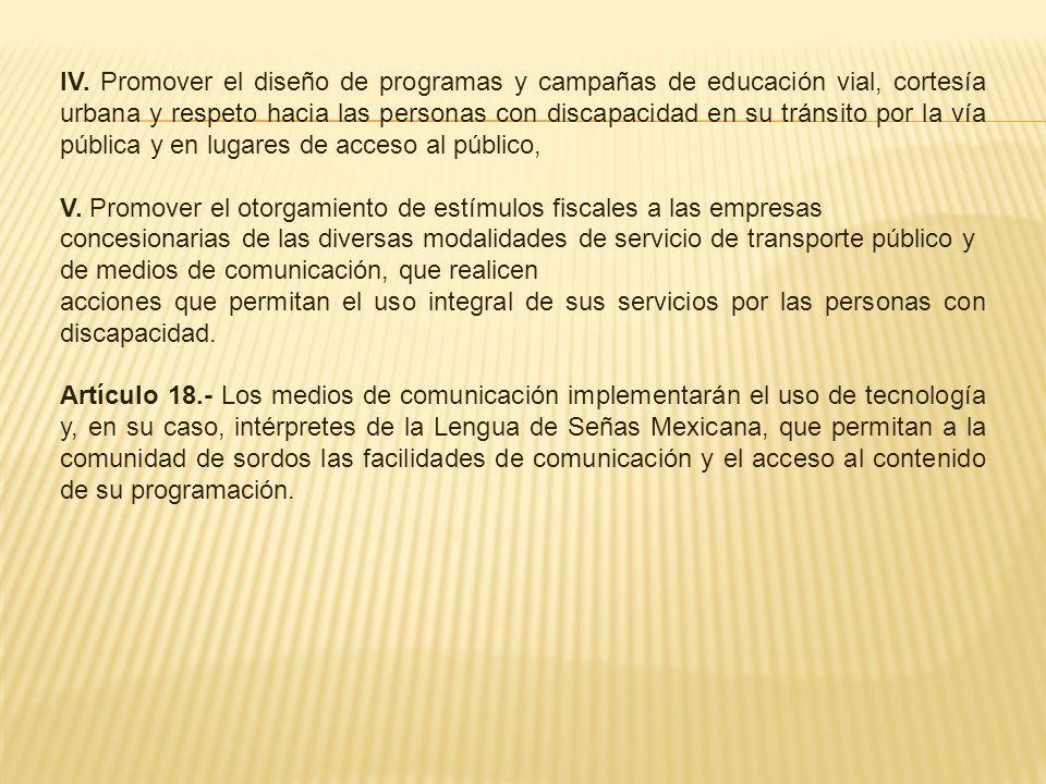 Capítulo VI Del Desarrollo y la Asistencia Social Artículo 19.- Las autoridades competentes deberán: I.