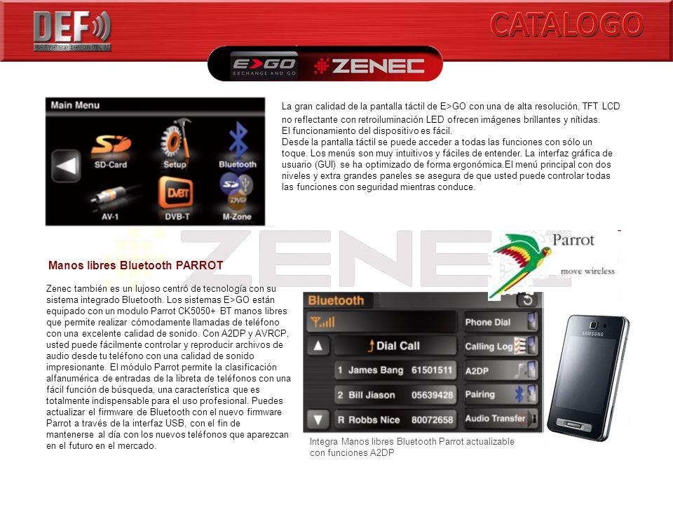 Manos libres Bluetooth PARROT Zenec también es un lujoso centró de tecnología con su sistema integrado Bluetooth.