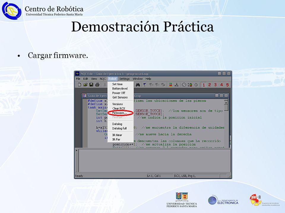 Demostración Práctica Cargar firmware.