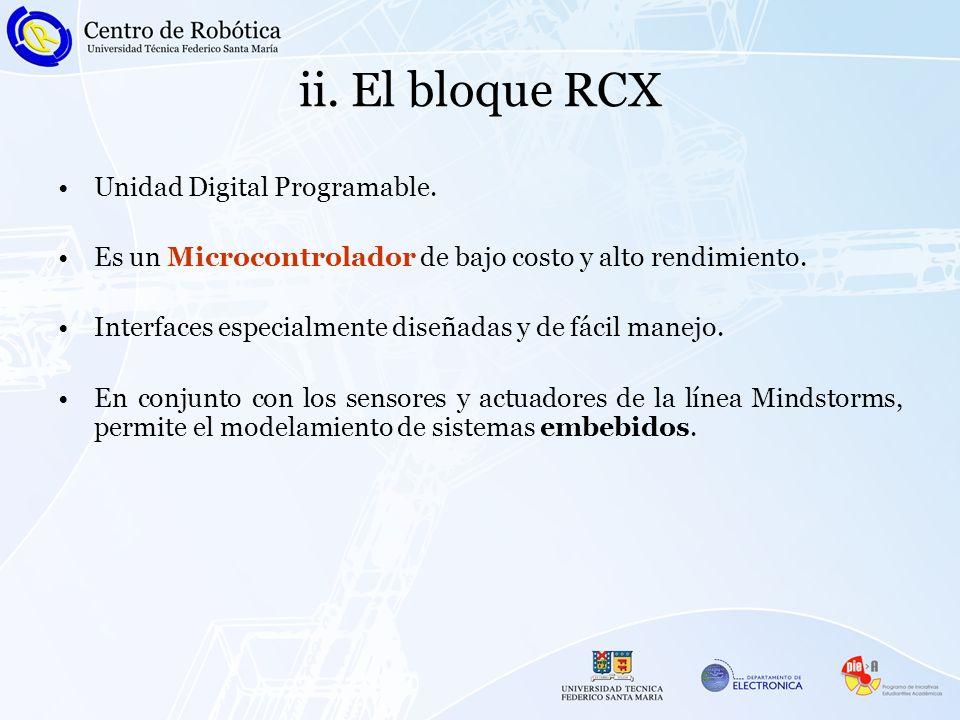 ii. El bloque RCX Unidad Digital Programable.