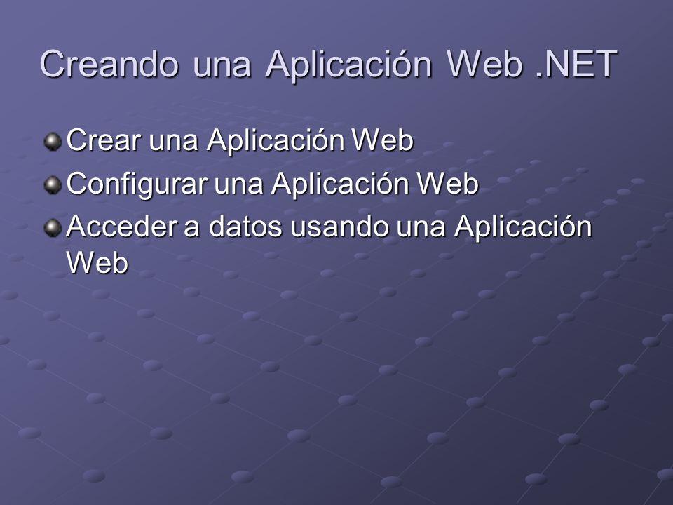 Tema: Crear una Aplicación Web ¿Qué es ASP.NET.¿Qué es una Aplicación Web.