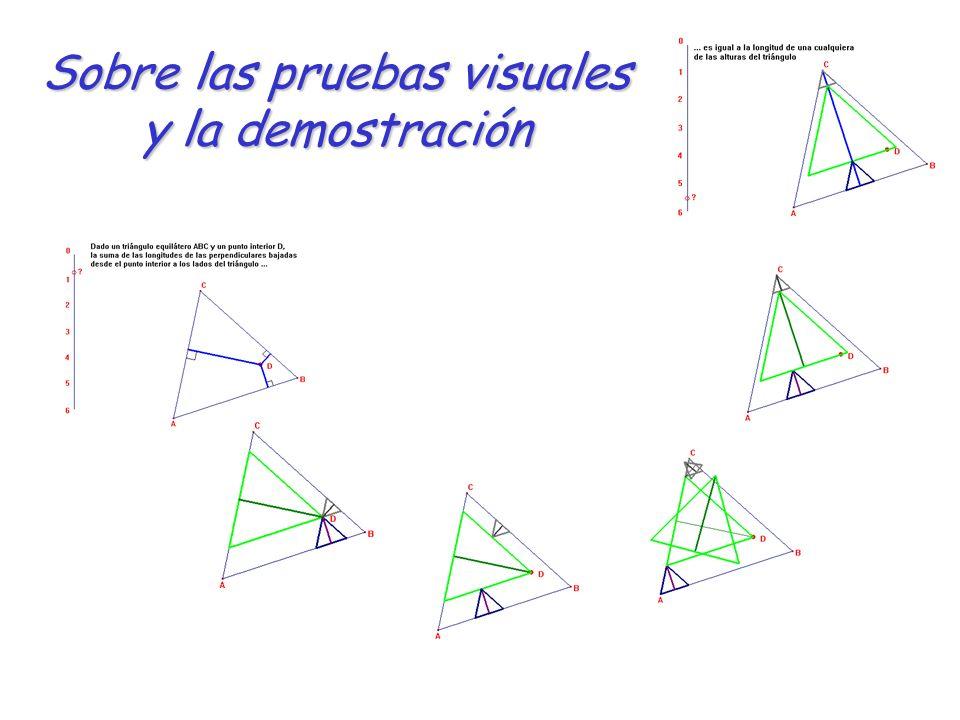 Sobre las pruebas visuales y la demostración