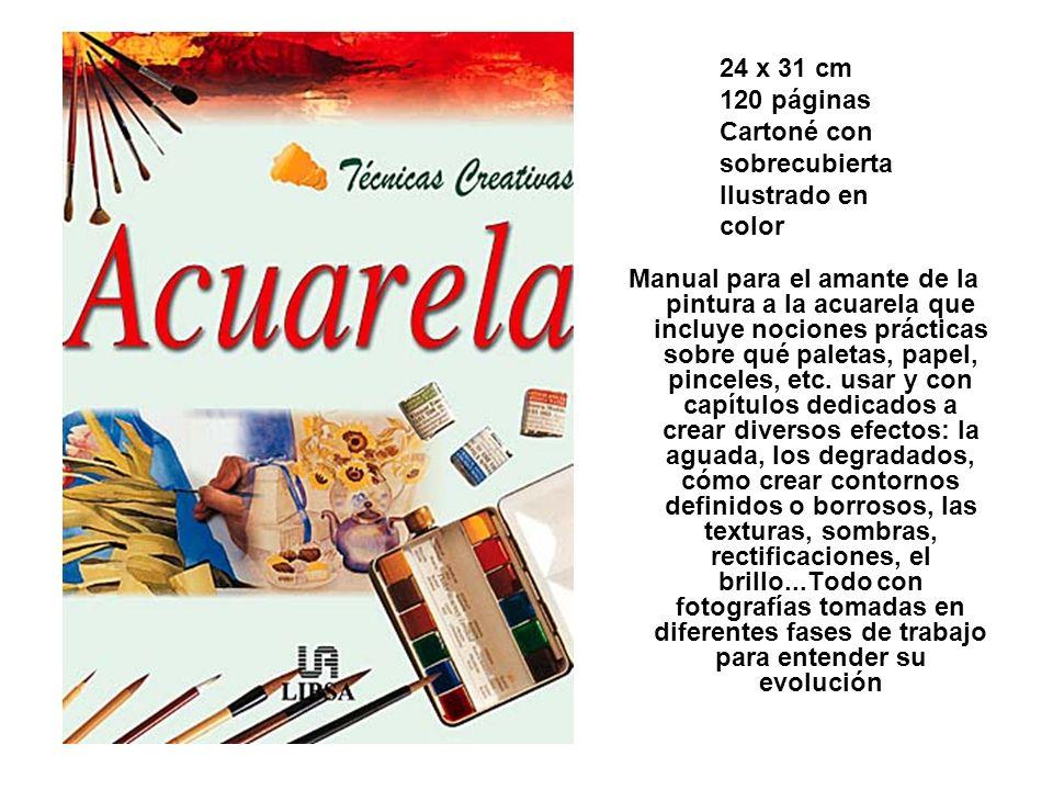 Manual para el amante de la pintura a la acuarela que incluye nociones prácticas sobre qué paletas, papel, pinceles, etc. usar y con capítulos dedicad