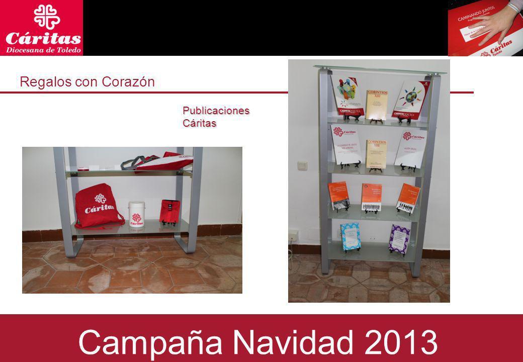 Regalos con Corazón Regals amb Cor Publicaciones Cáritas Campaña Navidad 2013