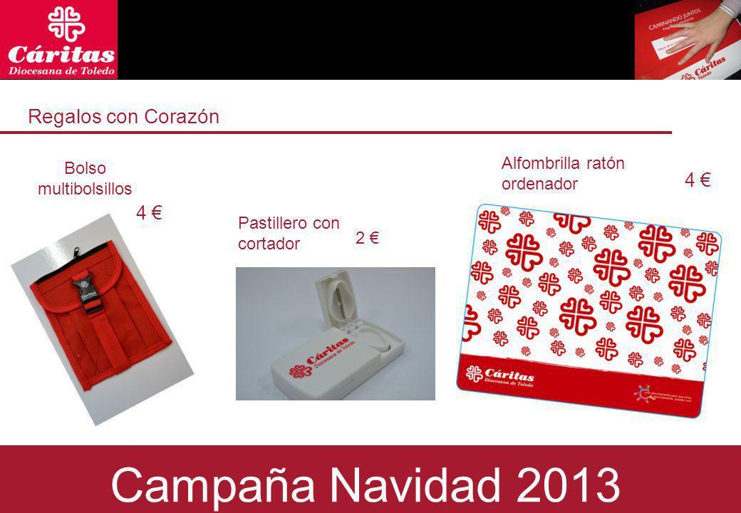 Regalos con Corazón Bolso multibolsillos 4 2 Campaña Navidad 2013 Alfombrilla ratón ordenador 4 Pastillero con cortador