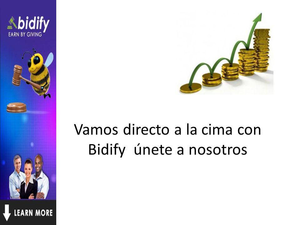 Vamos directo a la cima con Bidify únete a nosotros