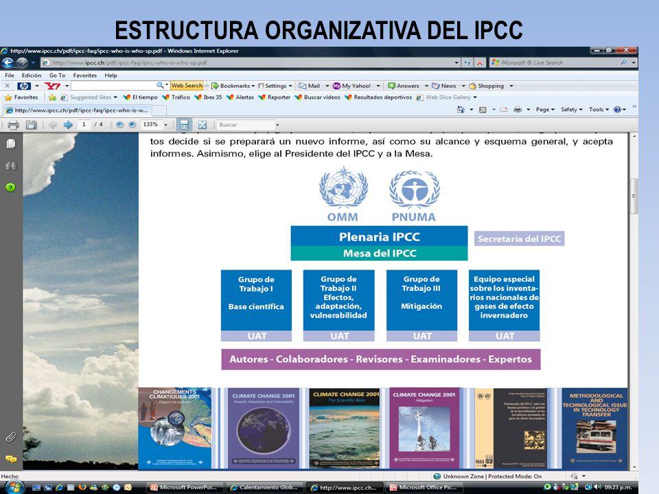 ESTRUCTURA ORGANIZATIVA DEL IPCC