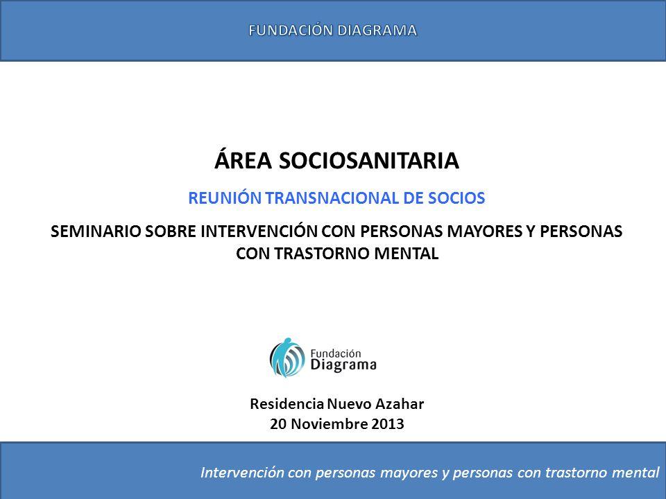 ÁREA SOCIOSANITARIA REUNIÓN TRANSNACIONAL DE SOCIOS SEMINARIO SOBRE INTERVENCIÓN CON PERSONAS MAYORES Y PERSONAS CON TRASTORNO MENTAL Intervención con