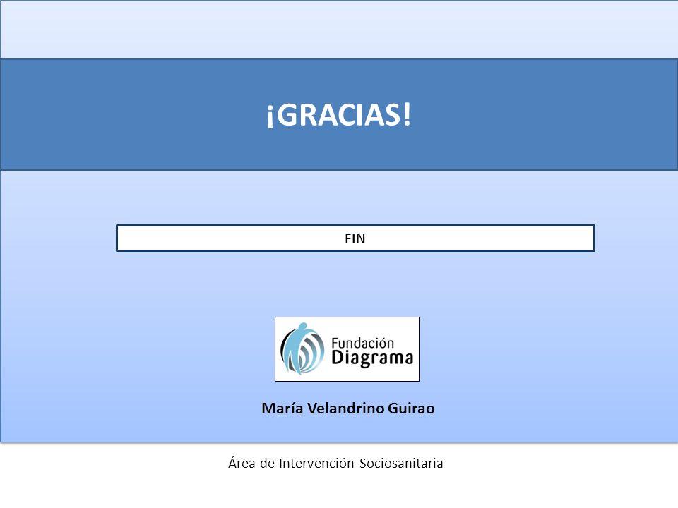 ¡GRACIAS! FIN Área de Intervención Sociosanitaria María Velandrino Guirao
