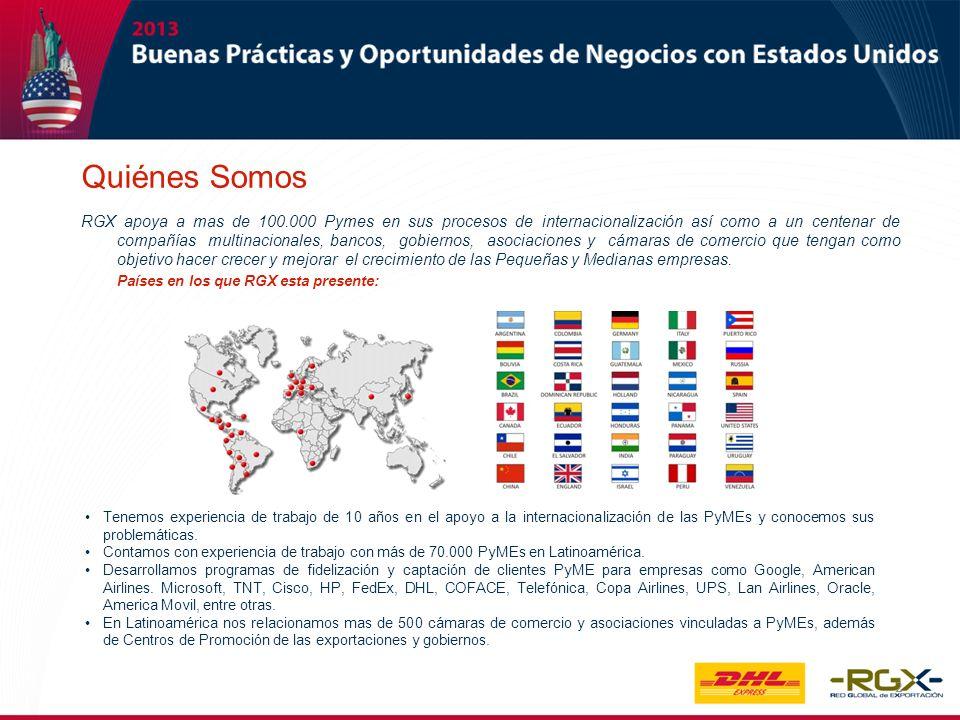 2 Tenemos experiencia de trabajo de 10 años en el apoyo a la internacionalización de las PyMEs y conocemos sus problemáticas. Contamos con experiencia