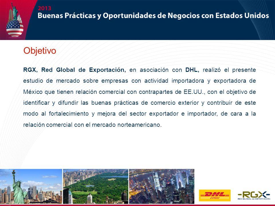 RGX, Red Global de Exportación, en asociación con DHL, realizó el presente estudio de mercado sobre empresas con actividad importadora y exportadora d