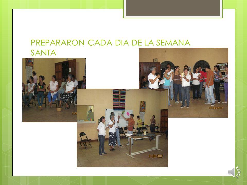 MARZO: PREPARACIÓN DE CUARESMA Y SEMANA SANTA Hna. Carmen compartió y preparó con los que iban a participar en semana santa de misión en las regiones.