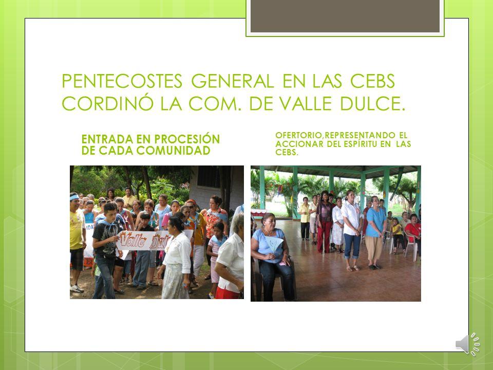CELEBRACIÓN DE PENTECOSTÉS LO CELEBRARON EN COMUNIDADES EL PENTECOSTÉS ES ENCUENTRO CON EL OTRO, UNA COM.