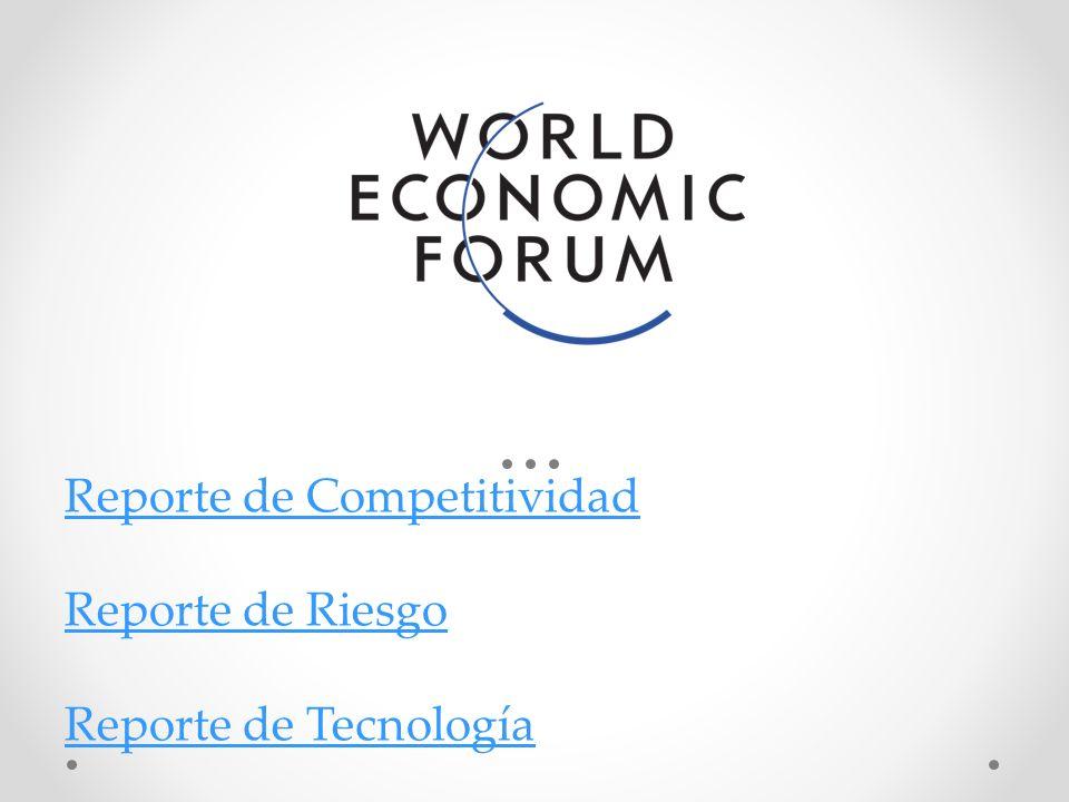 Reporte de Competitividad Reporte de Riesgo Reporte de Tecnología