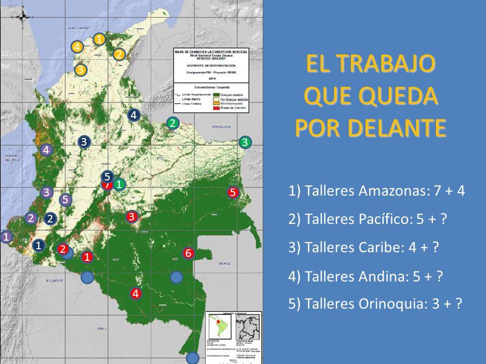 EL TRABAJO QUE QUEDA POR DELANTE 1 4 6 5 3 2 7 1 4 3 5 2 1 2 4 3 1 2 4 3 5 1 2 3 1) Talleres Amazonas: 7 + 4 2) Talleres Pacífico: 5 + .