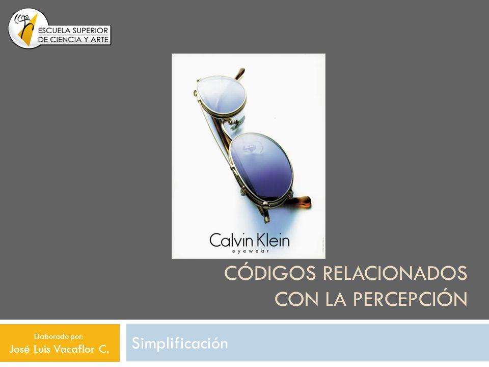 CÓDIGOS RELACIONADOS CON LA PERCEPCIÓN Simplificación Elaborado por: José Luis Vacaflor C.