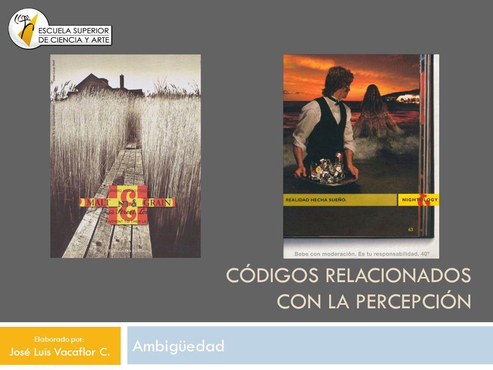 CÓDIGOS RELACIONADOS CON LA PERCEPCIÓN Ambigüedad Elaborado por: José Luis Vacaflor C.