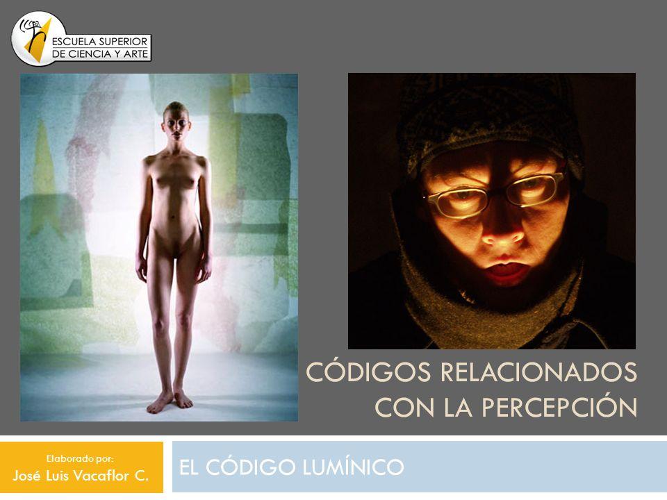 CÓDIGOS RELACIONADOS CON LA PERCEPCIÓN EL CÓDIGO LUMÍNICO Elaborado por: José Luis Vacaflor C.