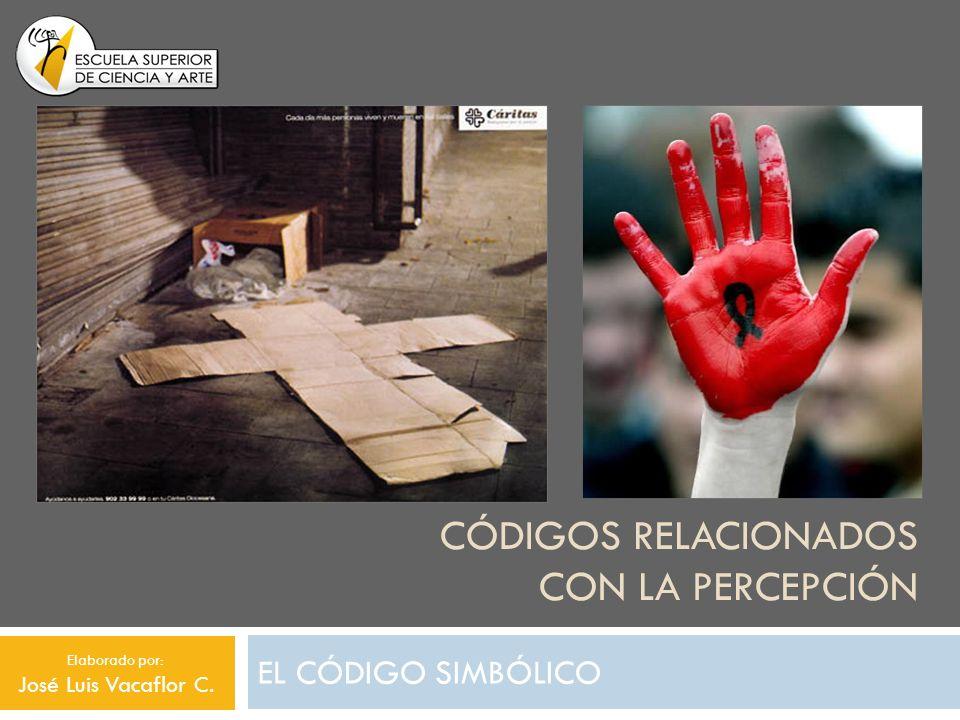 CÓDIGOS RELACIONADOS CON LA PERCEPCIÓN EL CÓDIGO SIMBÓLICO Elaborado por: José Luis Vacaflor C.