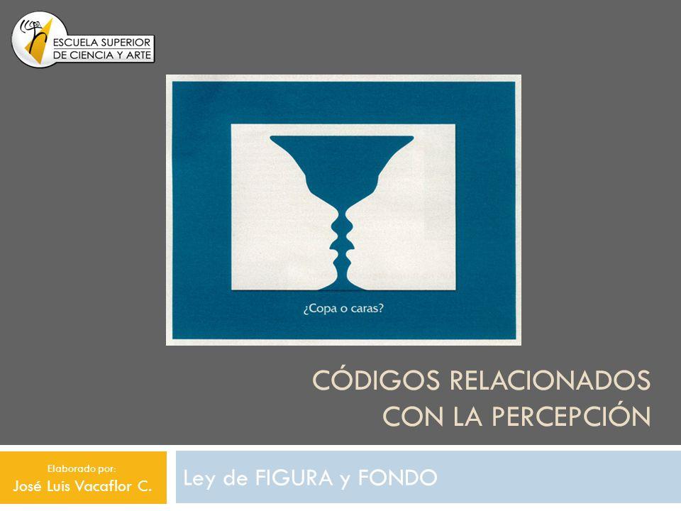 CÓDIGOS RELACIONADOS CON LA PERCEPCIÓN Ley de FIGURA y FONDO Elaborado por: José Luis Vacaflor C.